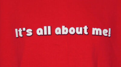 It's All About Me T-Shirt Size M Medium Womens Shirt Red Love So Sweet