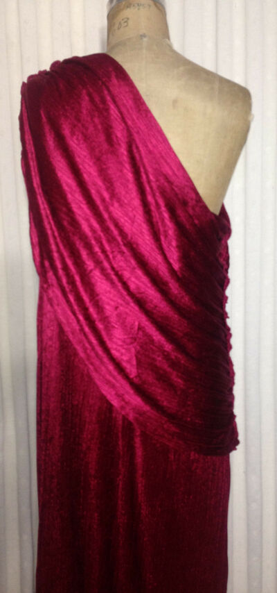MARY MCFADDEN Collection Classic Pleated Column Dress Gown 34 36 S Roman Toga