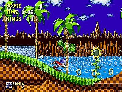 Sega Genesis~Sonic the Hedgehog RARE Action Game 1992