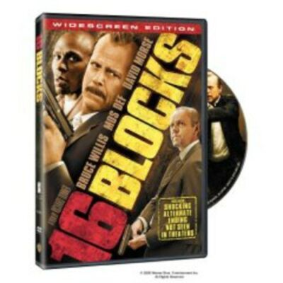 DVD 16 Blocks Widescreen Edition Movie Bruce Willis Mos Def Richard Donner