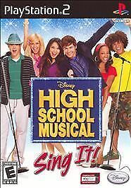 PS2 High School Musical Sing It playstation Complete LN