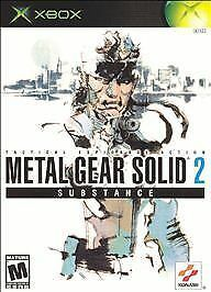 Xbox Metal Gear Solid 2 Substance Solid Smoke M LkNw Fast Ship!