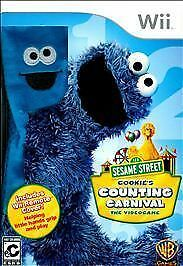 Sesame Street Cookie's Counting Carnival Videogame  Nintendo Wii 2010 New Sealed