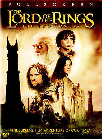 DVD Lord of the Rings Two Towers LOTR Full Frame Elijah Wood~LkNew Movie