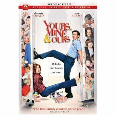 DVD Yours Mine & Ours Rene Russo Dennis Quaid Movie Comedy Widescreen~LkNew