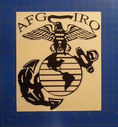 EGA Iraq  Afghan Vietnam Marine Veteran Decal USMC Afghanistan Deployed Sticker
