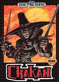 Sega Genesis Chakan:The Forever Man Video Game Cube LkNew Complete Case Manual