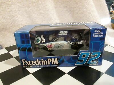 Racing Champions #92 Excedrin PM 2001 Chevy Monte Carlo 1:64 Diecast Car