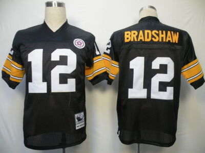 Terry Bradshaw New Stitched Black Throwback Jerseys Men Sizes M - 2XL NICE!!!