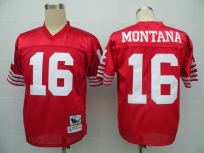 Joe Montana New Stitched 1989 Throwback Jerseys Red Men Sizes M - 2XL NICE!!!
