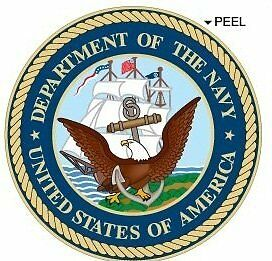 United States US Department of The Navy Seal Insignia  Window Bumper Laptop 4""