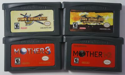 Metroid, Castlevania, Mothers, Fire Emblem, Golden Sun GBA - *Reproduction Cart*