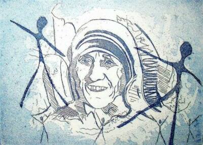 Mother Teresa - Calcutta -cDonnangelo - Litho