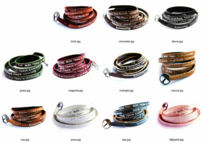 Humanity for All Leather Bracelet Wrap Around Regular