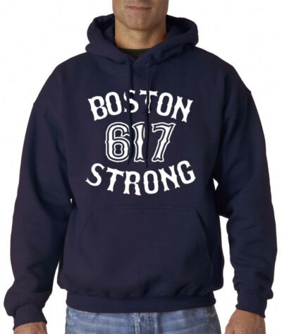 BOSTON STRONG 617 MARATHON 2013 CHARITY FUNDRAISER ADULT HOODIE SWEATSHIRT SHIRT