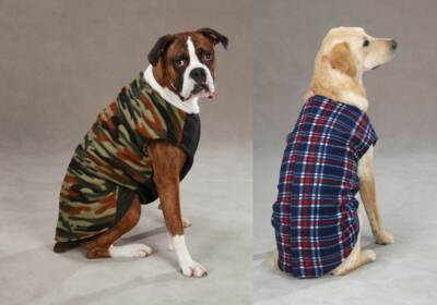 Zack & Zoey PLAID or CAMO FLEECE RIPSTOP DOG VEST JACKET COAT Size:Misc