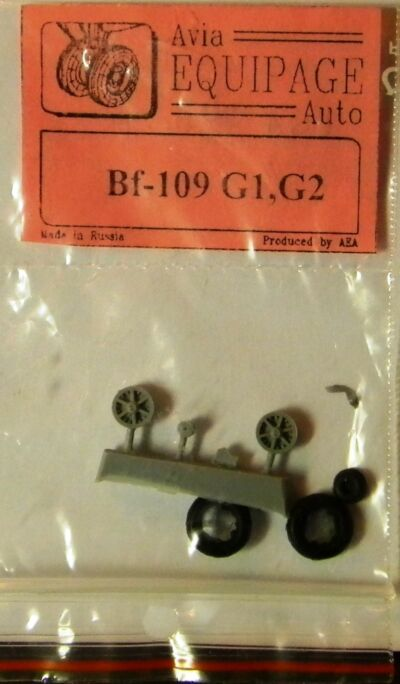 EQA72003 Equipage 1/72 Rubber Wheels for Messerschmitt Bf-109G1-G2 fighter model