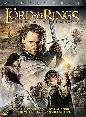 DVD Lord of the Rings Return of King~Elijah Wood 2-Disc Set Widescreen~LkNew