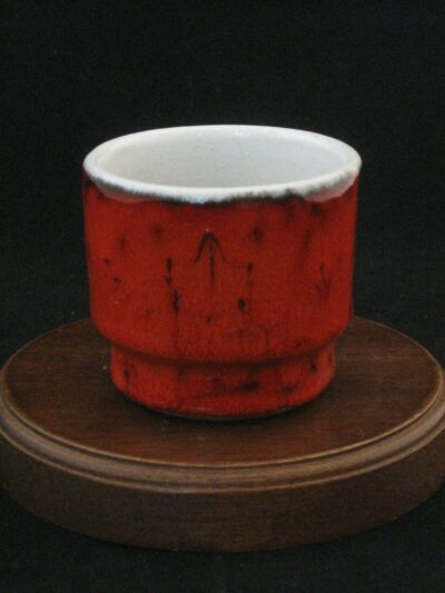 "Estriceram Cafe Quebecois ""Liqueur D'erable"" Fine Pottery Cup Made in Canada"