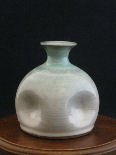 "Studio Pottery Vase By California Artist Jane Schwarzwalter 3.5"" Tall"