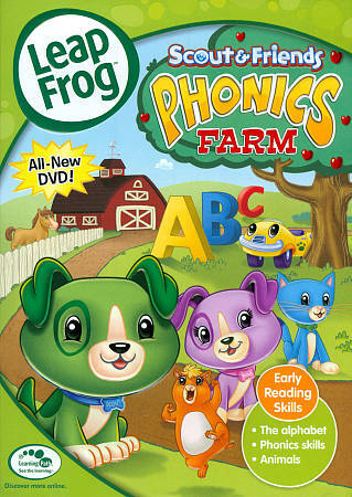 LEAPFROG SCOUT & FRIENDS PHONICS FARM DVD Leap Frog Early Reading Skills