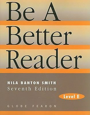 BE A BETTER READER: LEVEL E SE 97C., GLOBE, Good Book