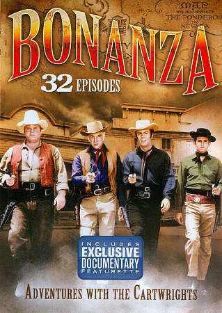 BONANZA - 32 Episodes - Cartwright Adventures - DVD - 4-Disc Set - NEW SEALED