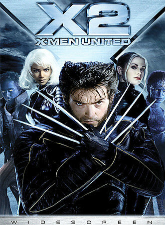 DVD X2 X-Men 2 United~Full screen Movie~LkNew Fast Ship!