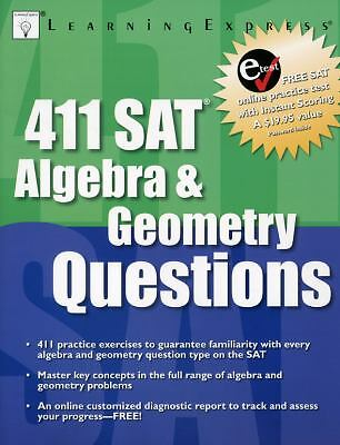 411 SAT Algebra & Geometry Quest, LearningExpress Editors, Good Book