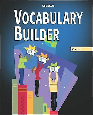 Vocabulary Builder, Course 1, Student Edition, McGraw-Hill, Glencoe, Good Book
