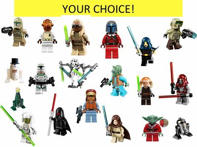 LEGO STAR WARS MINIFIGURES GRIEVOUS DARH GREEDO HAN SOLO CLONE R2 YOUR CHOICE
