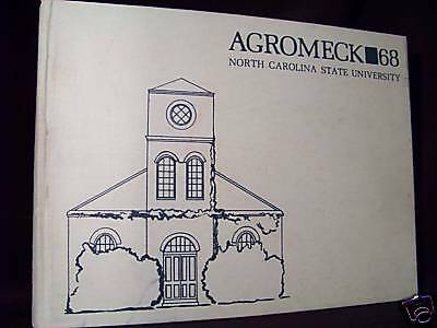 "North Carolina State Yearbook 1968 ""Agromeck"" Raleigh"