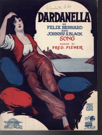 DARDANELLE Sheet Music 1919 NEAR MINT DeTakacs