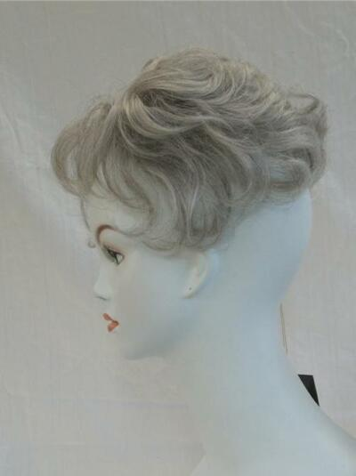Salt/Pepper Hair Enhancer Piece Pull-thru Wiglet Topper