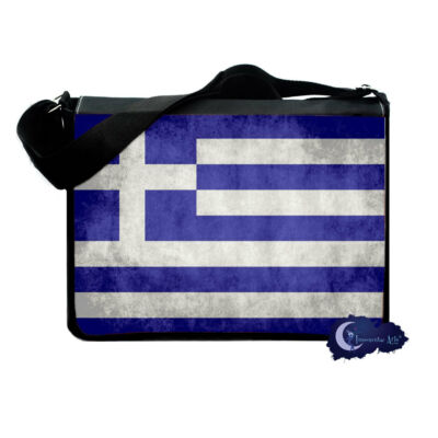 Greek Flag Messenger & Laptop Computer Bag - Greece