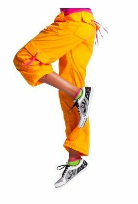 Zumba Clasic Cargo Pants Orange & Pink   L or M  Save a dog 100% charity