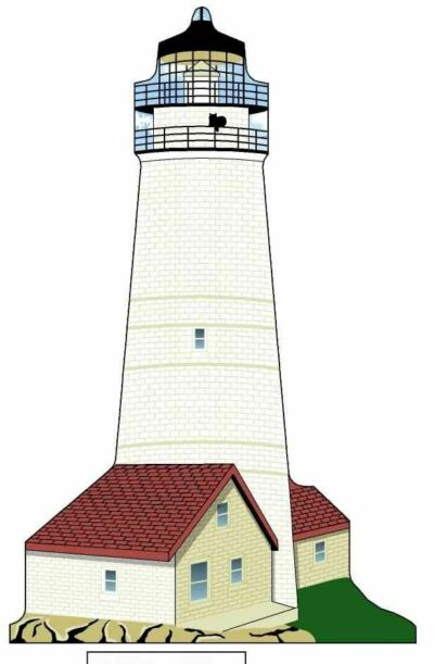 Cat's Meow Village Boston Lighthouse MASS MW005828 NEW Exclusive *SHIPPING DISC*