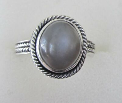 Silver Moonstone Ring in Sterling Silver sz 7.5