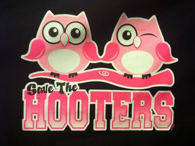 Save the Hooters Owl Breast Cancer Awareness Pink Ribbon T-Shirt  S-6XL Tee Neon