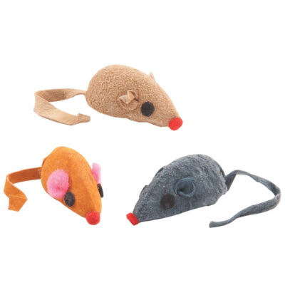 LEATHER MICE CAT TOYS  Lots 5/10/30/60 Real Hide Suede Rattles Kitten Cat Toy