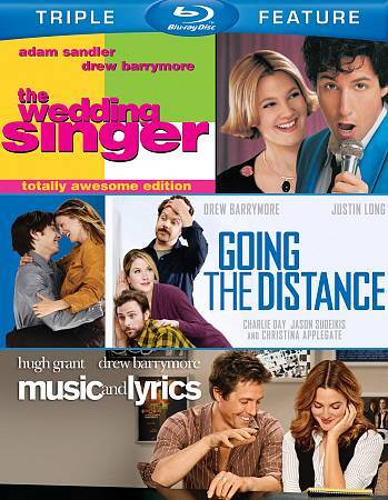 WEDDING SINGER/GOING DISTANCE/MUSIC LYRIC BLU RAY NEW SEALED OPERATION GRATITUDE