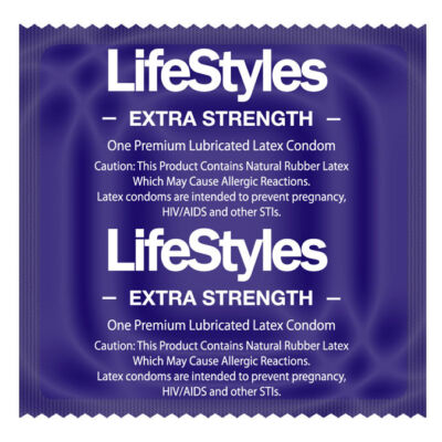 100 PIECES PACK. LIFESTYLES EXTRA STRENGHT LUBRICATED LATEX CONDOMS. ON SALE!!!!