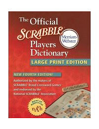 The Official Scrabble Players Dictionary, Merriam-Webster, Acceptable Book