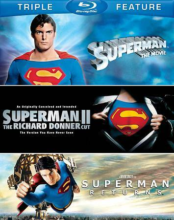 SUPERMAN TRIPLE FEATURE  BLU RAY NEW SEALED OPERATION GRATITUDE