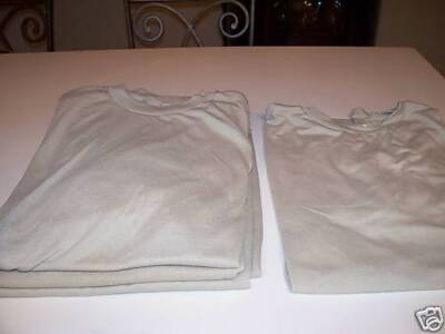Military Surplus,Army,Five Tan Tee Shirts,Lg,Used