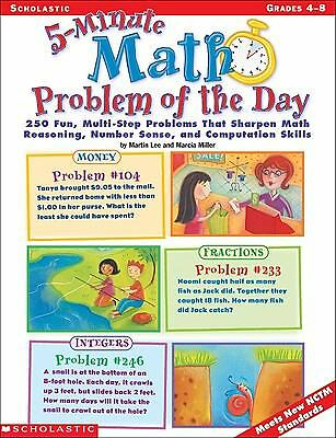 5-Minute Math Problem of the Day: 250 Fun, Multi-Step Problems That Sharpen Mat