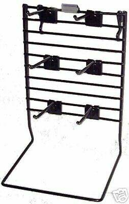 Black metal wire POP counter DISPLAY RACK peg jewelry HEAVY GAUGE