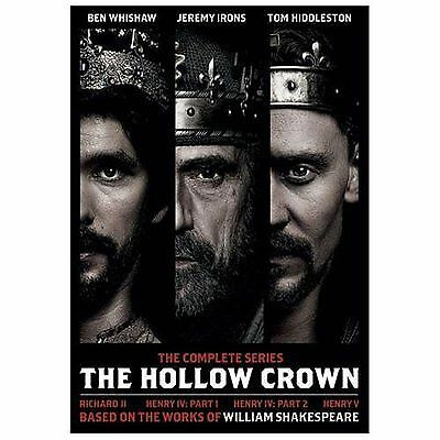 THE HOLLOW CROWN: The Complete Series (DVD, 2013, 4-Disc Set)