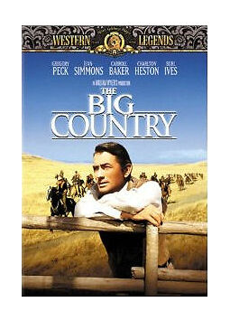 The Big Country by Gregory Peck, Jean Simmons, Carroll Baker, Charlton Heston,