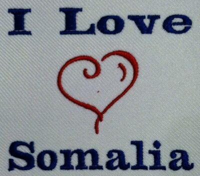 I Love Somalia. Carter's Baby Bodysuit Embroidery